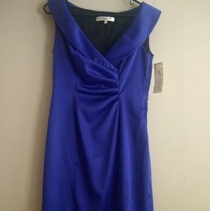 Evan Picone Royal blue collar dress Sz 8